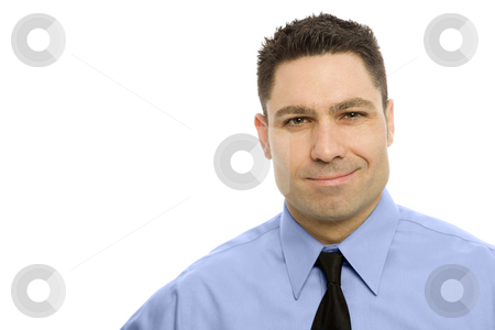 Businessman in a suit stock photo, Businessman in a suit and a tie smiles by Rick Becker-Leckrone