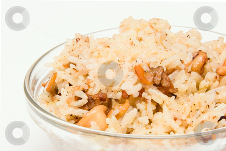 Fried rice with seafood stock photo, Fried rice with seafood by Andrey Butenko