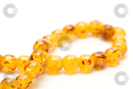 Amber beads stock photo, Amber beads by Andrey Butenko