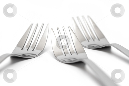 Forks stock photo, Forks by Andrey Butenko
