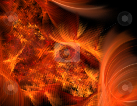 Fractal fire stock photo, Abstract illustration of fractal fire by Natalia Macheda