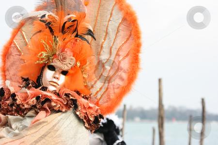 Romantic venetian mask stock photo, Romantic venetian mask with copy space behind by Natalia Macheda