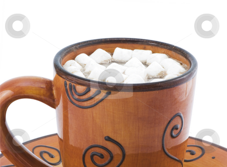 Hot Chocolate with Marshmellows stock photo, Hot chocolate with Marshmellows by John Teeter