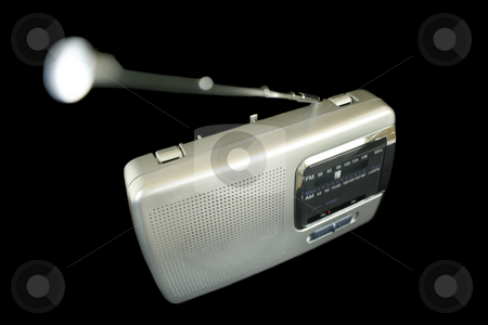 Retro Radio stock photo, Old retro portable radio with antenna extended. by Brett Mulcahy