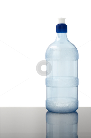 Water bottle on white stock photo, A blank empty water bottle on a white background by Angus Benham