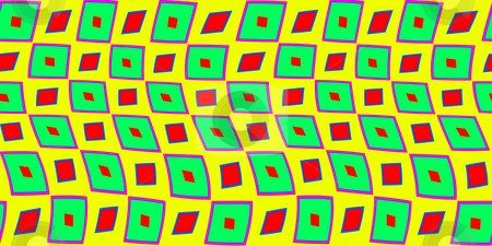 Retro square pattern stock photo, Texture of vivid red and green square shapes on yellow by Wino Evertz