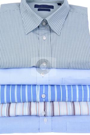 Shirts stock photo, Colourfull men's shirts  isolated on white background by Jolanta Dabrowska