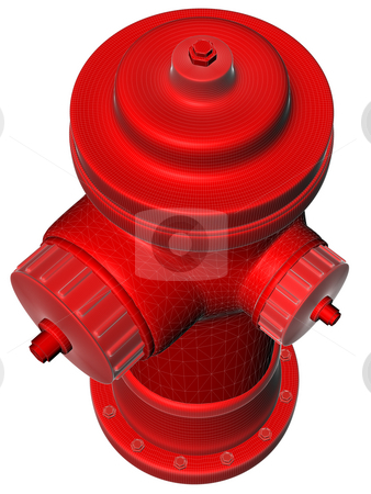 Red fire Hydrant stock photo,  by Rodolfo Clix