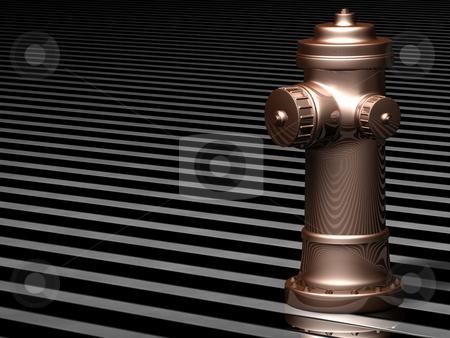 Bronze fire Hydrant stock photo,  by Rodolfo Clix