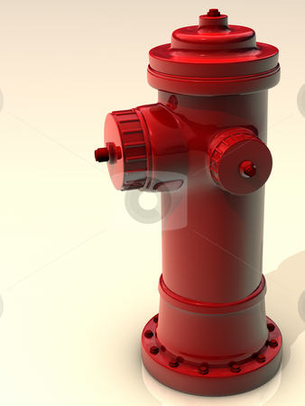 Red Hydrant stock photo,  by Rodolfo Clix
