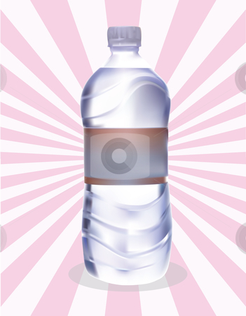A plastic bottle of water stock vector clipart,  by Adelina Green