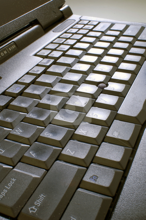 Computer keyboard stock photo, Computer keyboard at an extreme angle to camera by Jonathan Hull