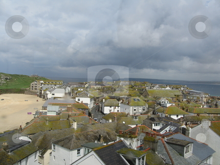 The roofs of St Ive stock photo, A view overlooking St Ives by Colin Elves