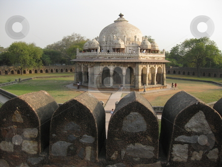 Old tomb, old wall stock photo, A side tomb at Humyan's Tomb, New Delhi, India by Colin Elves