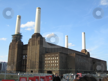 Battersea Power Station stock photo, A view of Battersea Power station by Colin Elves
