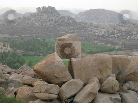 Balanced rock stock photo, A large well balanced boulder by Colin Elves