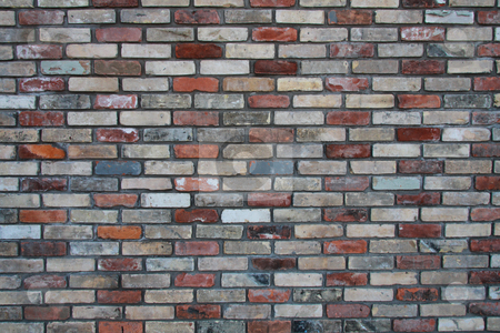 Brick Wall  stock photo, Colored brick wall background by R Deron