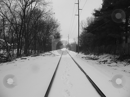 Winter Railroad Tracks stock photo, Winter Railroad Tracks, photo taken in Sylvania Ohio near Brint Rd. by Dazz Lee Photography