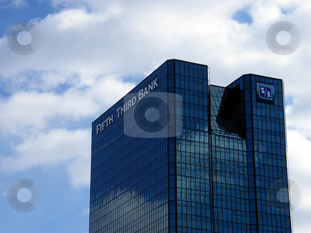 Tallest Toledo Building stock photo, Photo is of the Top Portion of the bulding. One SeaGate.  This is the tallest building in Toledo, Ohio. Used to be the headquarters for Owens Illinois, but is now the Northwest Ohio headquarters for Fifth-Third Bank by Dazz Lee Photography