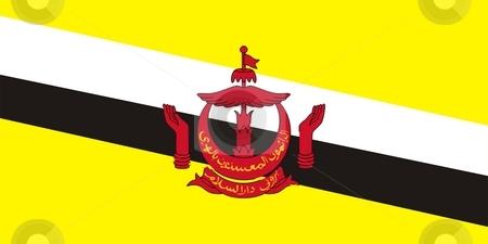 Brunei Flag stock photo, 2D illustration of Brunei flag color vector by Tudor Antonel adrian