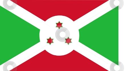 Flag Of Burundi stock photo, Flag of Burundi. Illustration over white background by Tudor Antonel adrian