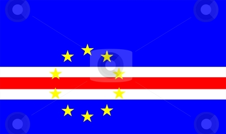 Cape Verde Flag stock photo, 2D illustration of the flag of Cape Verde vector by Tudor Antonel adrian