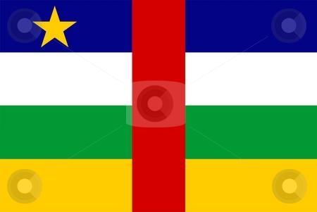 Central African Republic Flag stock photo, 2D illustration of the flag of Central African Republic vector by Tudor Antonel adrian