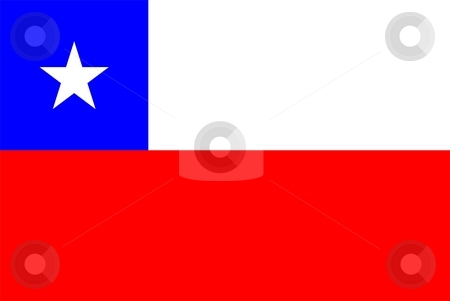 Chile Flag stock photo, 2D illustration of the flag of Chile vector by Tudor Antonel adrian