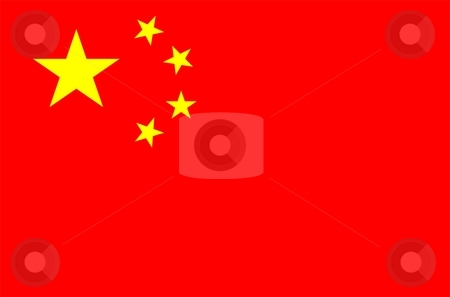 China Flag stock photo, 2D illustration of the flag of China vector by Tudor Antonel adrian