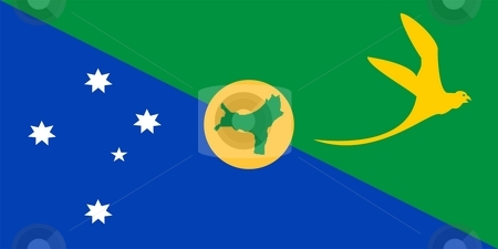 Flag of Christmas Island stock photo, 2D illustration of the flag of Christmas Island by Tudor Antonel adrian