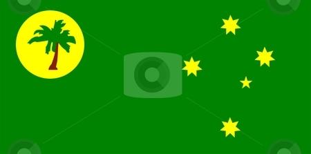 Flag Of Cocos Keeling Islands stock photo, 2D illustration of the flag of Cocos Keeling Islands by Tudor Antonel adrian