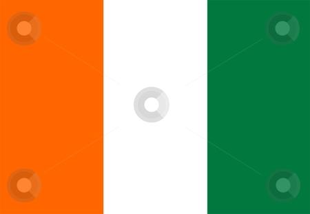 Flag Of Cote d`Ivoire stock photo, 2D illustration of the flag of Cote d`Ivoire by Tudor Antonel adrian