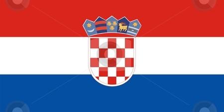 Flag Of croatia stock photo, 2D illustration of the flag of croatia by Tudor Antonel adrian