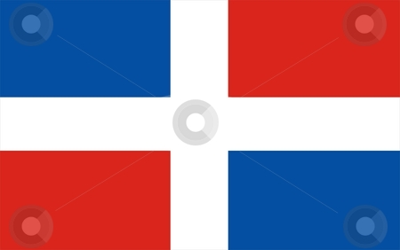 Dominican Republic Flag stock photo, 2D illustration of Dominican Republic flag color vector by Tudor Antonel adrian