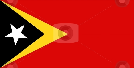 Flag Of East Timor stock photo, 2D illustration of the flag of East Timor by Tudor Antonel adrian