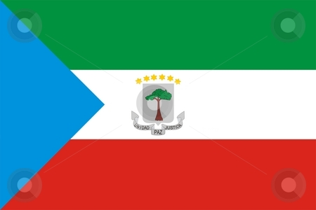 Flag Of Equatorial Guinea stock photo, 2D illustration of the flag of Equatorial Guinea by Tudor Antonel adrian