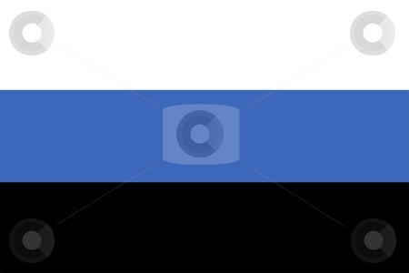 Flag Of estonia stock photo, 2D illustration of the flag of estonia by Tudor Antonel adrian