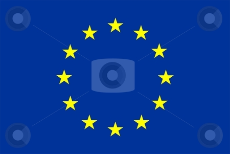 Flag Of europe stock photo, 2D illustration of the flag of europe by Tudor Antonel adrian