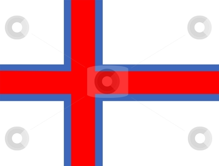 Flag Of faroe stock photo, 2D illustration of the flag of faroe by Tudor Antonel adrian