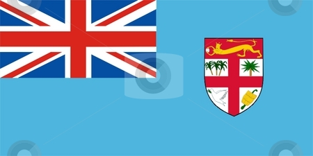 Fiji Flag stock photo, 2D illustration of Fiji flag color vector by Tudor Antonel adrian