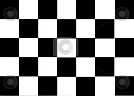 Formula One Flag stock photo, Formula black flag vectorial illustration with no shadow by Tudor Antonel adrian