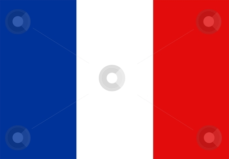 Flag Of france stock photo, 2D illustration of the flag of france by Tudor Antonel adrian