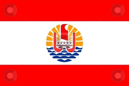 Flag Of French Polynesia stock photo, 2D illustration of the flag of French Polynesia by Tudor Antonel adrian