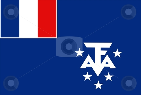 Flag Of French Southern Territories stock photo, 2D illustration of the flag of French Southern Territories by Tudor Antonel adrian