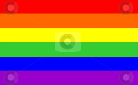 Gay Flag stock photo, 2D multi coloured gay pride flag vectorial illustration by Tudor Antonel adrian