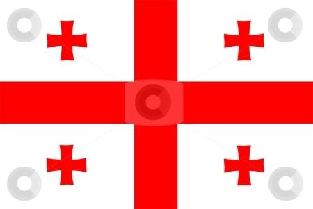 Flag Of Georgia stock photo, 2D illustration of the flag of Georgia by Tudor Antonel adrian