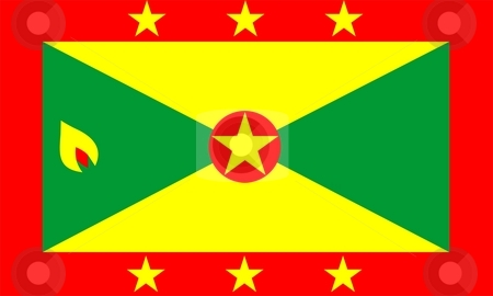 Grenada Flag stock photo, 2D illustration of the flag of Grenada vector by Tudor Antonel adrian