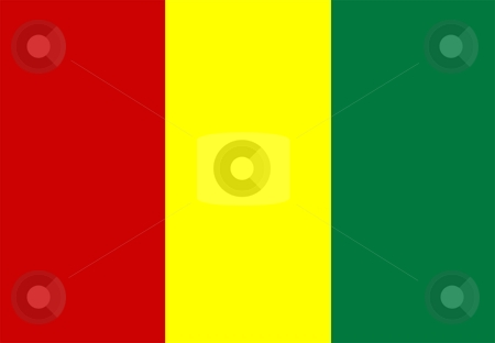 Flag Of guinea stock photo, 2D illustration of the flag of guinea by Tudor Antonel adrian