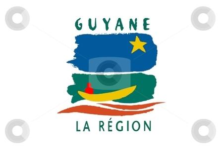 Flag Of Guyane stock photo, 2D illustration of the flag of Guyane by Tudor Antonel adrian