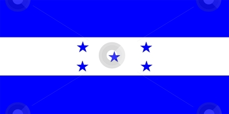 Flag Of Honduras stock photo, 2D illustration of the flag of Honduras by Tudor Antonel adrian
